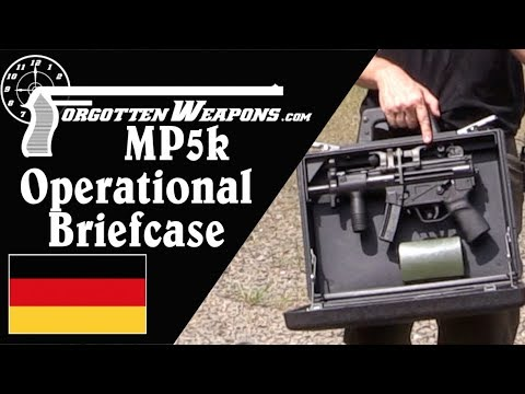 Shooting the H&K MP5K Operational Briefcase