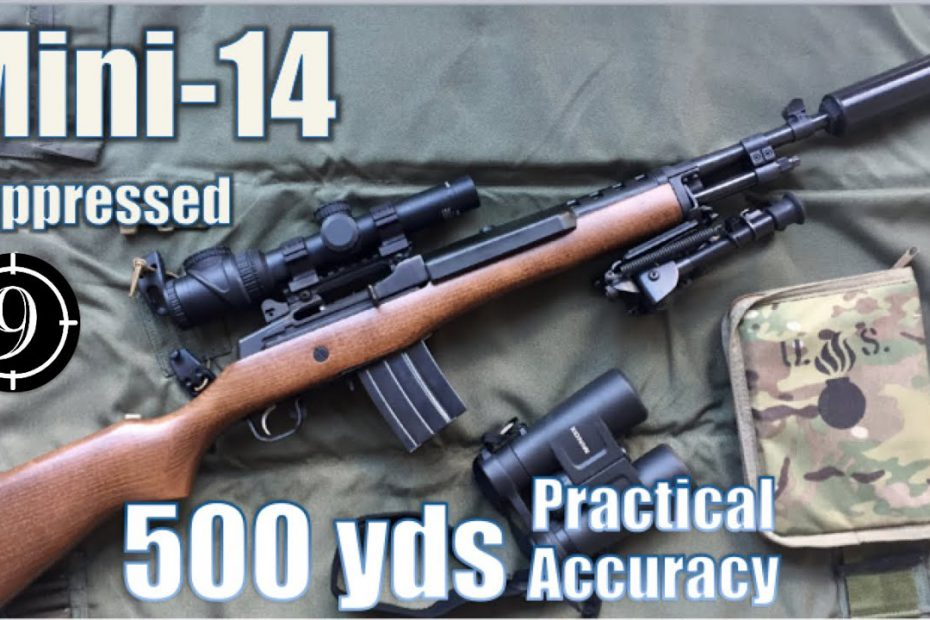 Mini 14 Suppressed to 500yds: Practical Accuracy (PUBG mode, with Trijicon 1-6x Accupoint mildot)