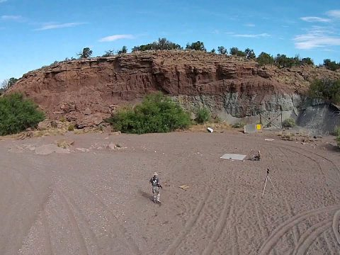 Initial experiments with the new quadcopter camera!