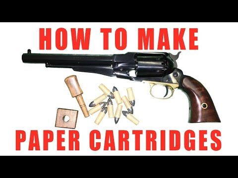 How To Make Paper Cartridges: The Manley Paper Cartridge Former