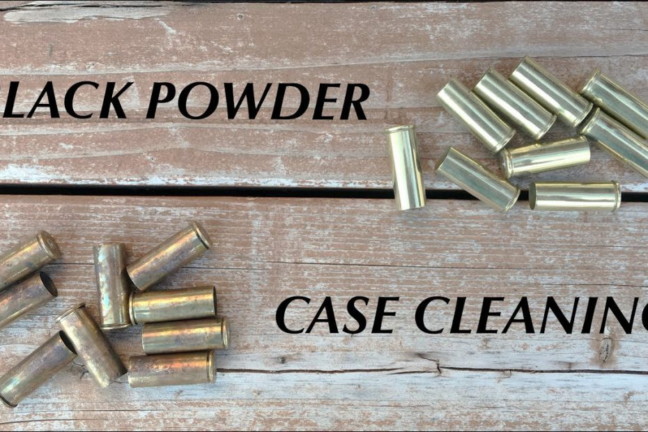 How To Clean Black Powder Cartridge Cases