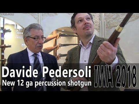 Pedersoli single barrel 12 ga percussion shotgun  IWA 2018 Part 4