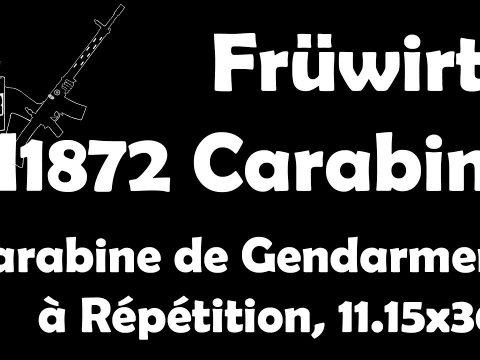 ENGLISH LINKED IN DESC! Früwirth M1872 Carabine de Gendarmerie à Répétition