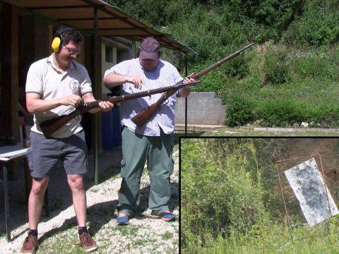 Having some 100 m fun with 1867 M Werndl rifles