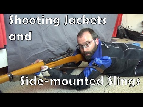 Shooting jackets and using a side-mounted sling