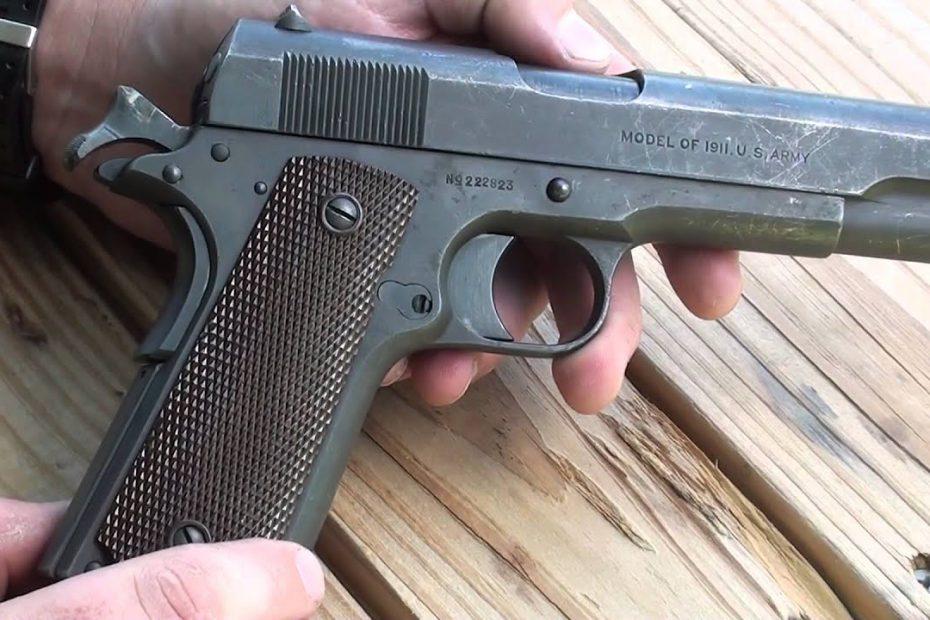 Colt Model of 1911 WW1 era service pistol .45 ACP