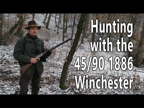 Hunting with the 1886 Winchester rifle 45/90 cal