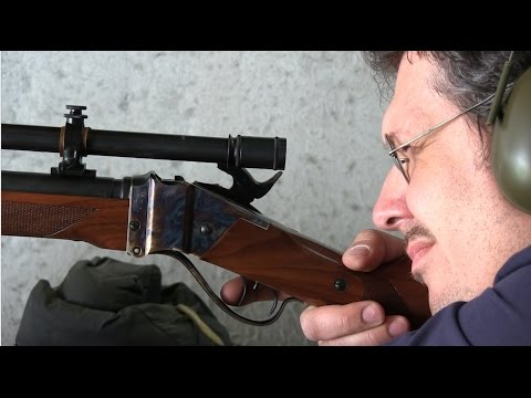 Shooting the Pedersoli 22LR bench rest Sharps to 100 m