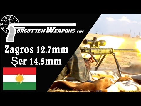 Kurdish 12.7mm Zagros and 14.5mm Şer Anti-Materiel Rifles