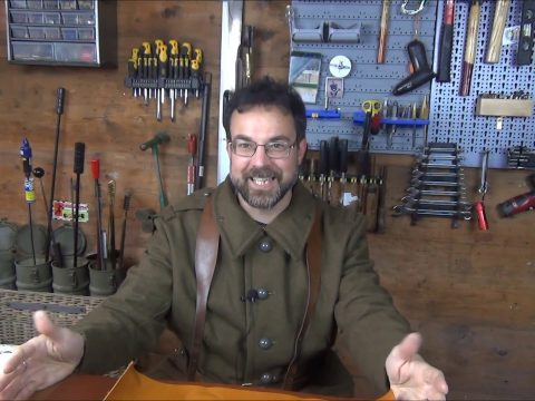 The Chap prepares to make some replica French WW2 ammo pouches