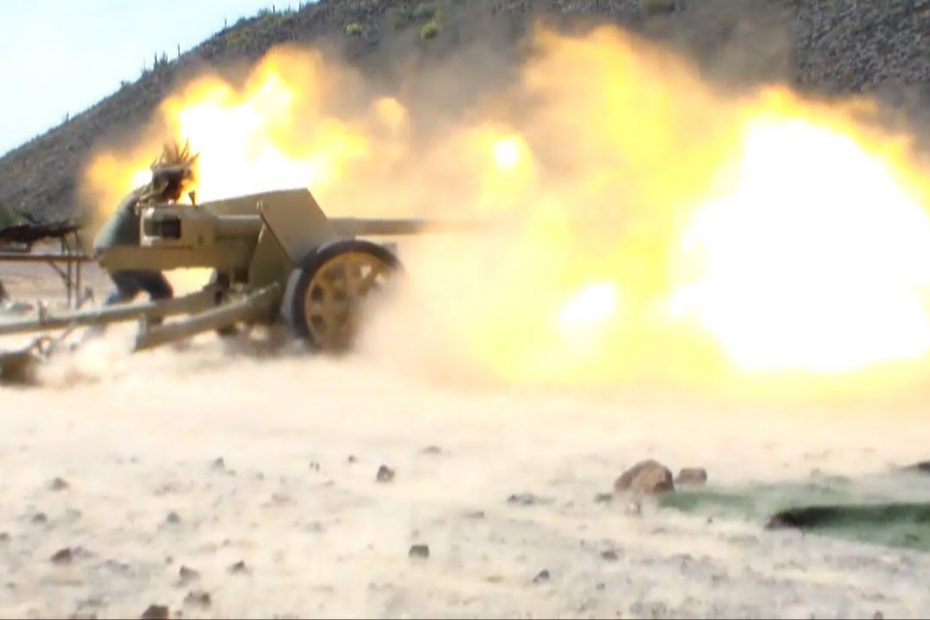 Pak-40 German 75mm AT Gun Firing