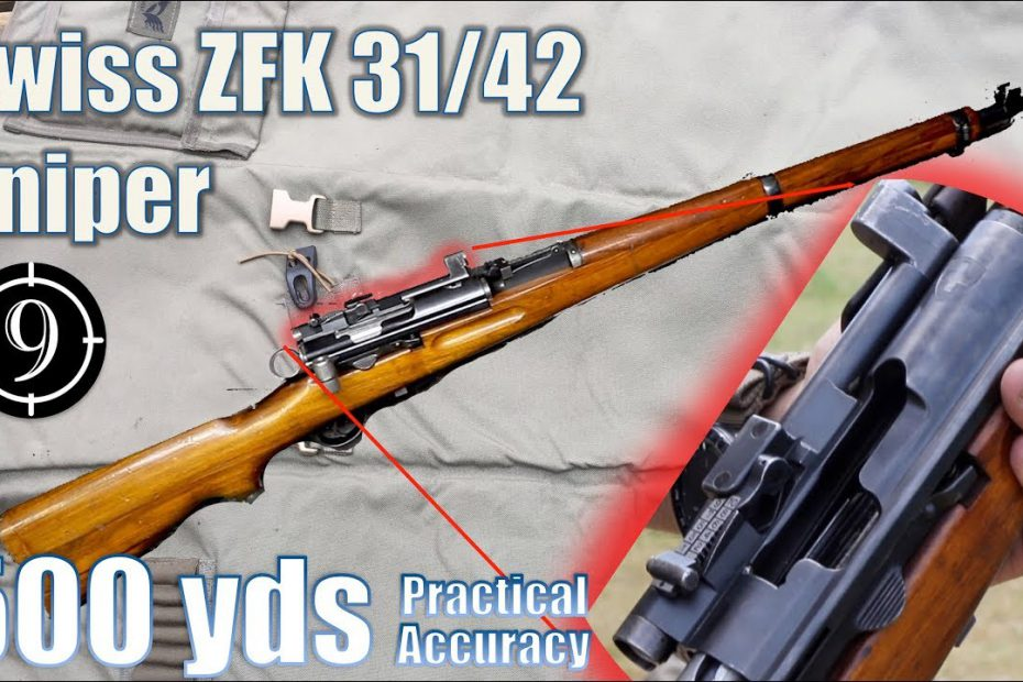 Swiss Zfk 31/42 Sniper Rifle to 500yds: Practical Accuracy (K31 Sniper with GP11ammo)