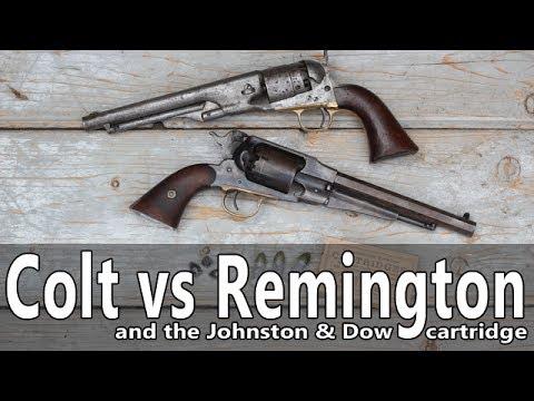 Remington vs Colt revolvers firing Johntson & Dow bullets