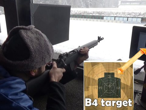 EXTRA VID: 7.62×39 AIA (Lee Enfield) Frankenrifle's first ever 300m outing (with crap Wolf ammo).