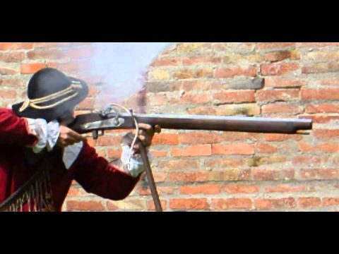 Lock times 2: Matchlock musket in slow motion