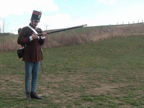 Augustin-féle gyutacsos puska töltése Gál Sándor alapján