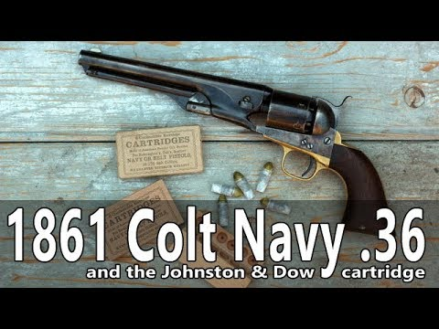 Original 1861 Colt Navy vs Johnston and Dow cartridges