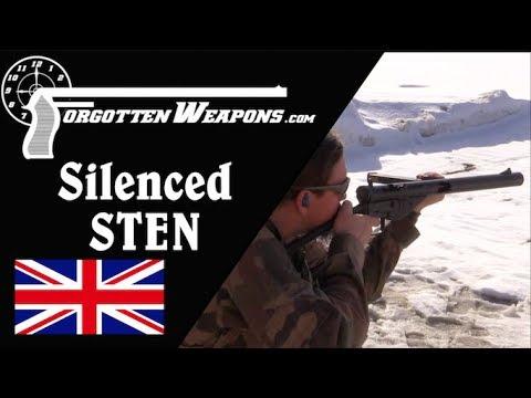 Shooting a Suppressed Sten Gun