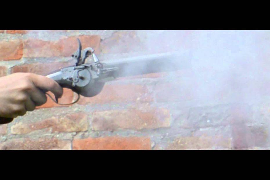 Lock times 4: Wheellock pistol in slow motion