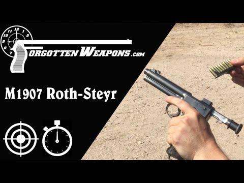 Roth Steyr 1907 at a Run-n-Gun Steel Match