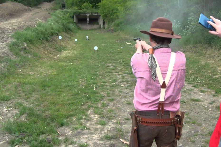 IPSC revolver match with 44-40 Uberti SAA – 3