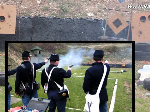 Clay target shooting with percussion revolvers