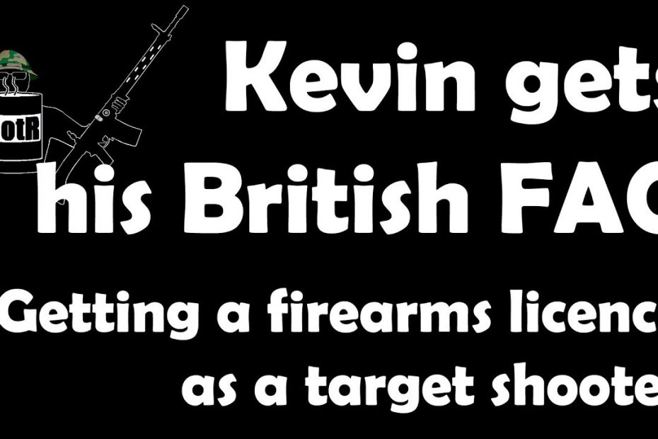 Kevin gets his British firearm certificate (FAC) as a target shooter