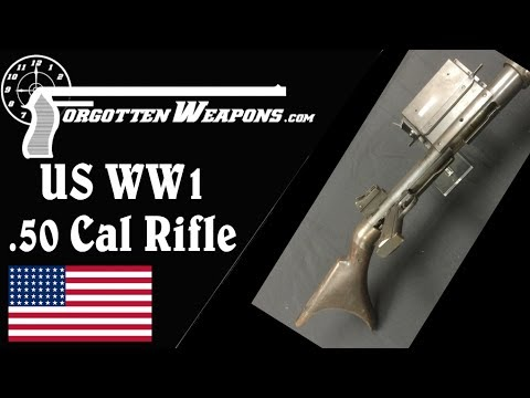 Prototype Winchester WW1 .50 Cal Antitank Rifle