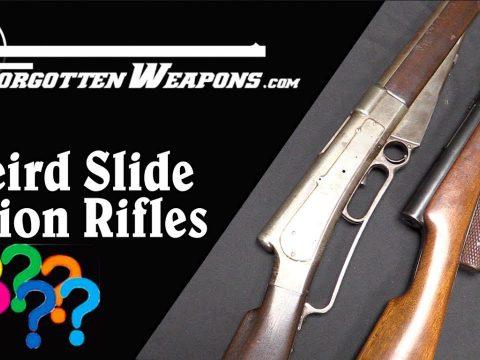 Weird Slide Action Prototype Rifles