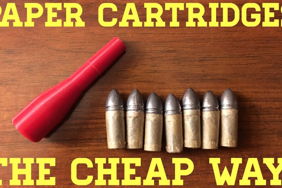 Making Paper Cartridges… The Cheap Way! (And A Giveaway)