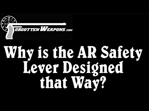 Why is the AR Safety Lever Designed That Way?