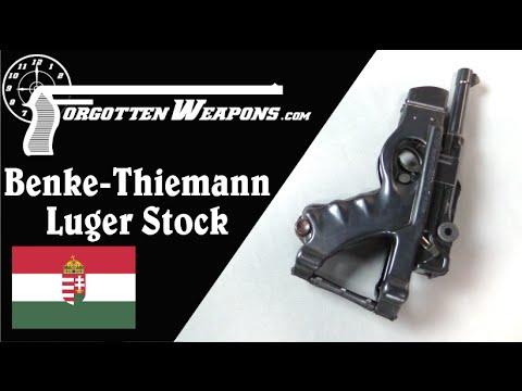 Benke Thiemann Folding Luger Stock