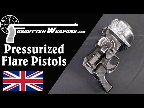 British Cabin Pressure Flare Pistols (Quite Unusual)