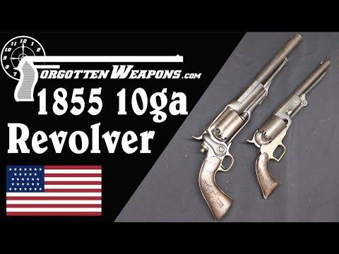 Biggest Revolver Yet? A 10-Gauge Colt 1855…