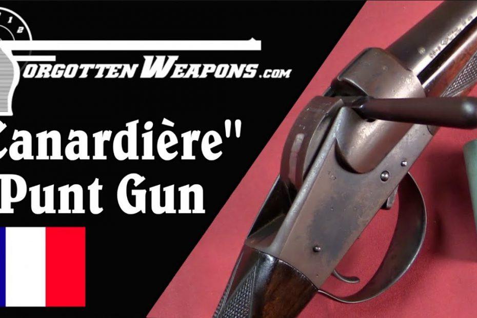"""Darne """"Canardière Portatif"""" Shoulder-Fired Punt Gun"""