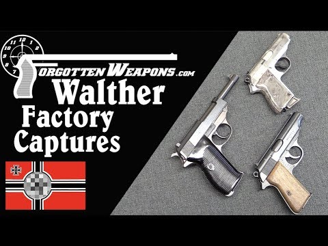 Pistols Taken From the Walther Factory in April 1945