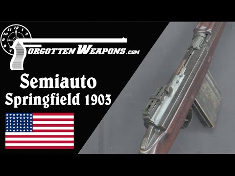 Experimental Primer-Actuated Semiauto Springfield 1903