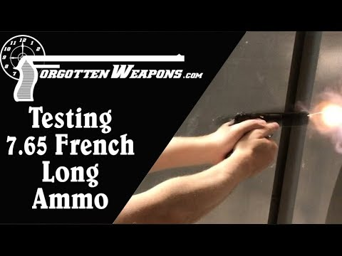 Testing 7.65mm French Long Ammo (Reed's and Buffalo Arms)