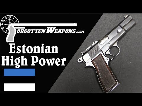 Estonian Home Guard Browning High Power