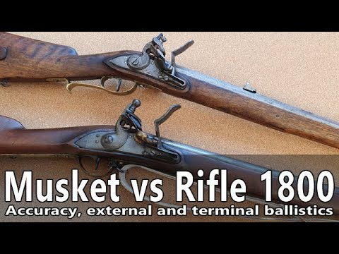 Flintlock musket versus flintlock rifle