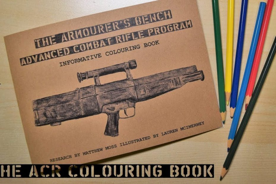 Introducing the Advanced Combat Rifle Colouring Book!