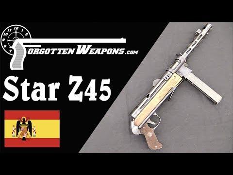 Star Z45: Spain's Improved MP40 Submachine Gun