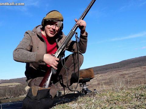 Original long range muzzle loading match rifle at 500 yards