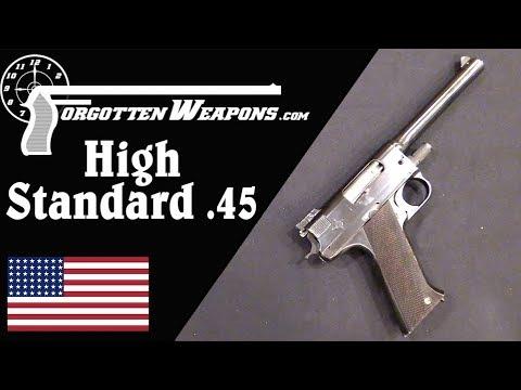 High Standard's Prototype World War One .45 ACP Pistol