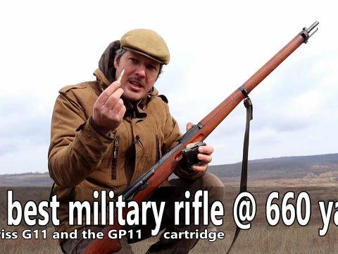The best military rifle @ 660 yards – The Schmidt Rubin G11