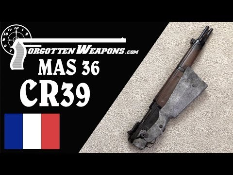 French Underfolding Paratrooper Rifle: MAS 36 CR39