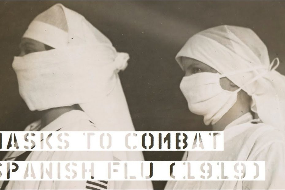 Nurses Make Masks to Combat Spanish Flu (1919)