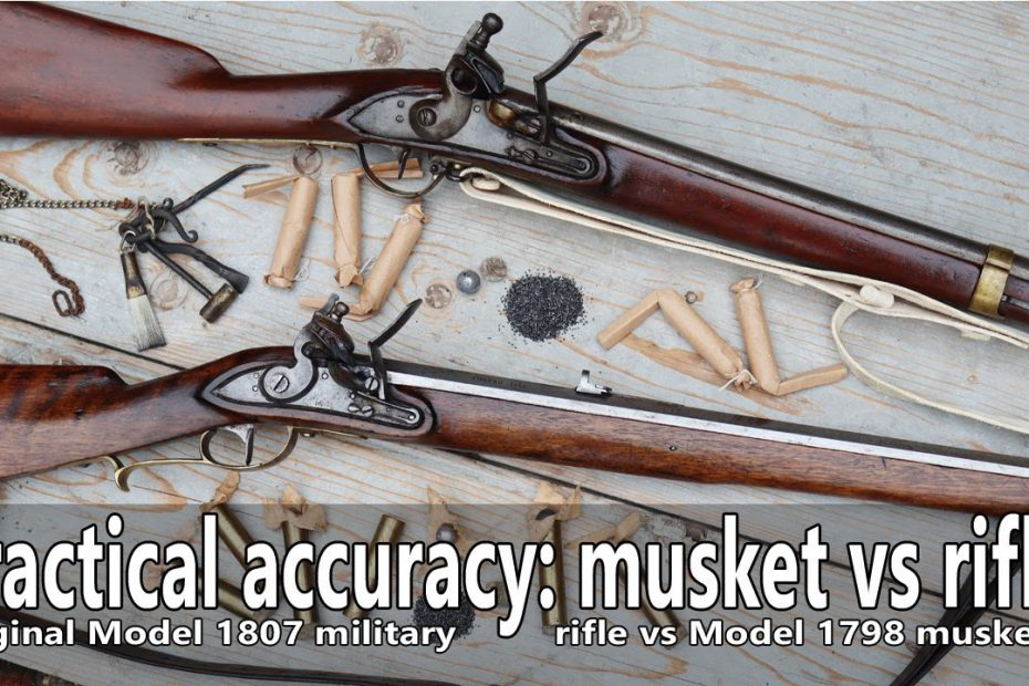 Practical accuracy of an original military flintlock rifle vs the musket
