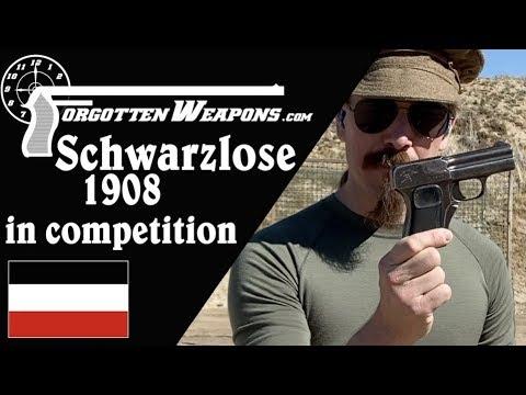 Blow-Forward Schwarzlose 1908 at the Backup Gun Match
