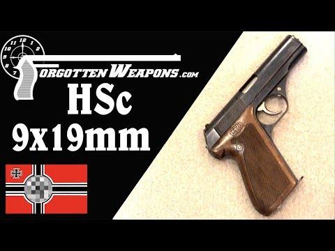 Prototype Locked-Breech 9x19mm Mauser HSc